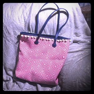 Clinique pink tote